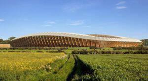 Αυτό είναι το πρώτο γήπεδο κατασκευασμένο αποκλειστικά από ξύλο! (pics)